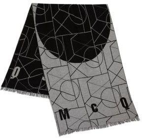 McQ Geometric Print Angle Scarf