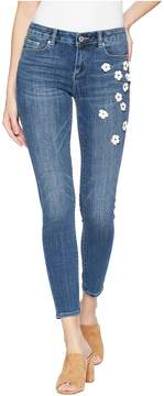 CeCe Floral Embellished Classic Skinny Jeans Women's Jeans