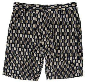 Ovadia & Sons Printed Flat Front Shorts