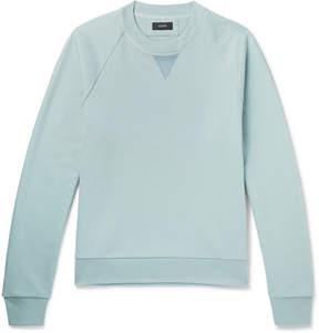 Joseph Satin-Trimmed Loopback Cotton-Jersey Sweatshirt