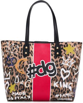 Dolce & Gabbana Beatrice graffiti print shopper tote bag