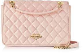 Love Moschino Pink Superquilted Eco-Leather Shoulder Bag