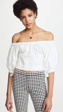 WAYF Breanna Off Shoulder Peasant Top