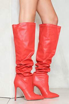 Nasty Gal nastygal Higher Power Vegan Leather Boot