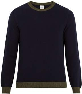 Paul Smith Bi-colour crew-neck wool sweater