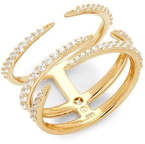 Adriana Orsini Women's Eva Pavé Crystal Multi-Band Ring