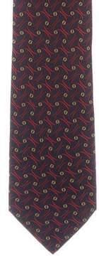 Fendi Silk Zucchino Print Tie