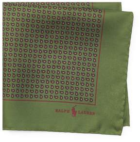 Ralph Lauren Neat Silk Twill Pocket Square