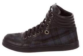 Gucci Plaid GG High-Top Sneakers