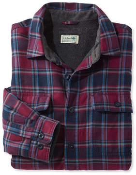 L.L. Bean Fleece-Lined Flannel Shirt, Traditional Fit
