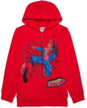 Spiderman Graphic-Print Sound Hoodie, Little Boys (4-7)