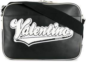 Valentino logo patch messenger bag