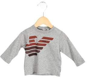 Armani Junior Boys' Printed Crew Neck Shirt w/ Tags