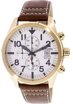 Citizen Men's AN3623-02A Gold Leather Japanese Quartz Fashion Watch