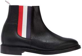 Thom Browne Pebbled Leather Striped Chelsea Boots