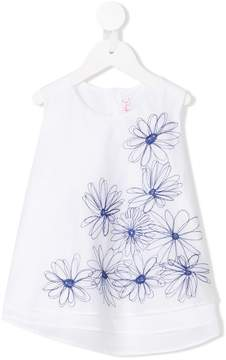 Il Gufo embroidered floral top