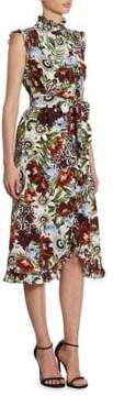 Erdem Sebla Button-Front Dress