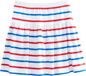 Vineyard Vines Girls Stripe Knit Pull On Skirt