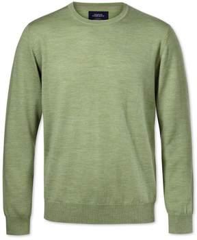 Charles Tyrwhitt Light Green Merino Wool Crew Neck Sweater Size XL
