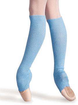 Capezio Light Blue Metallic Leg Warmers - Women