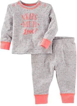 Osh Kosh Baby What's Not to Love? Heart-Print Top & Pants Set