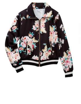 Love, Fire Floral Track Jacket (Big Girls)