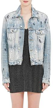 Amiri Women's Paint-Splattered Denim Jacket