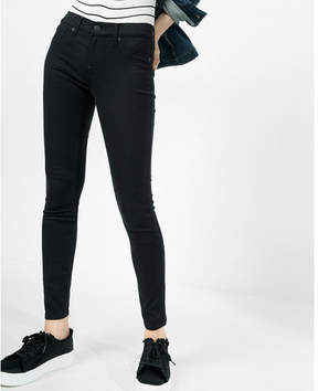 Express black mid rise stretch+ jean leggings
