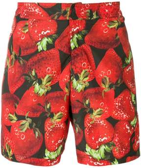 Moschino strawberry print swimming trunks