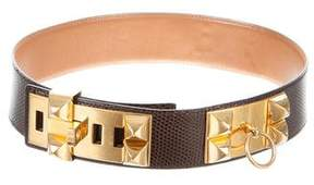 Hermes Lizard Collier De Chien Waist Belt