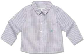 Marie Chantal Baby Boy Fine Cotton Check Shirt - Brown Check - Baby
