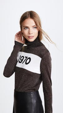 Bella Freud 1970 Polo Sparkle Sweater