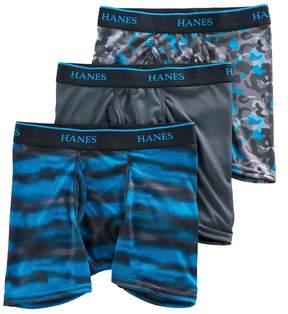 Hanes Boys 3-Pack X-Temp Performance Boxer Briefs