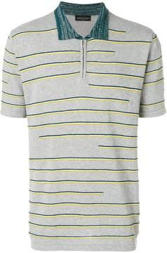 Roberto Collina textured stripe polo shirt