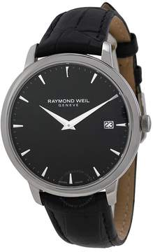 Raymond Weil Toccata Black Dial Black Leather Men's Watch