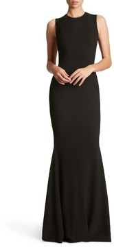 Dress the Population Women's Eve Crepe Mermaid Gown