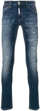 Philipp Plein tiger embroidered skinny jeans