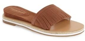 Pelle Moda Women's 'Jade' Fringe Slide Sandal