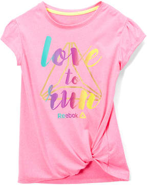 Reebok Heather Pink 'Love to Run' Tee - Toddler & Girls