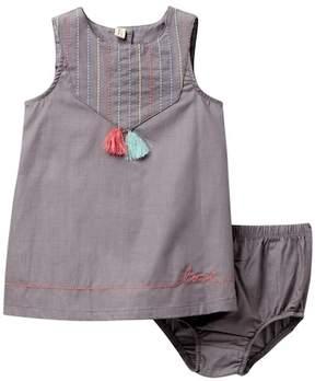 ED Ellen Degeneres Tassel Dress & Bloomer Set (Baby Girls)