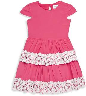 Us Angels Little Angels by Little Girl's Cap-Sleeve Crepe Dress