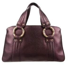 Gucci Metallic Bamboo Handle Bag - PURPLE - STYLE