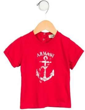 Armani Junior Girls' Printed Short Sleeve Top