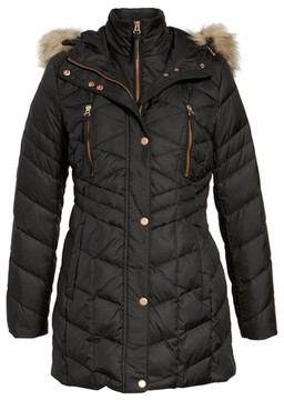 Andrew Marc Women's Marley 30 Coat With Detachable Faux Fur