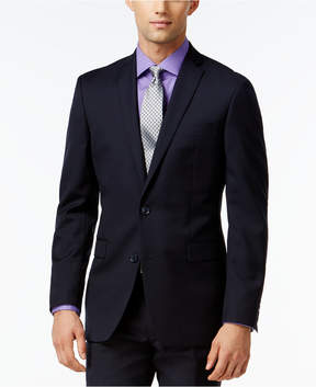 Bar III Navy Tonal Check Slim-Fit Jacket