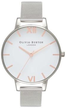 Olivia Burton Women's Mesh Strap Watch, 38Mm