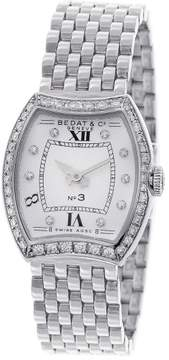 Bedat & Co No. 3 304.031 Diamond Dial and Bezel Stainless Steel 25mm Womens Watch