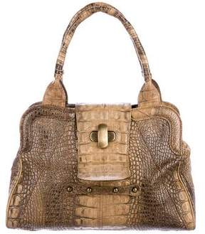 Max Mara Embossed Top Handle Bag