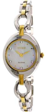 Citizen Eco-Drive Silhouette Two-Tone Women's Watch, EX1434-55D