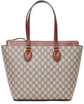 Gucci Gg Supreme/tuscan Leather Shopping Bag - BEIGE EBONY - STYLE